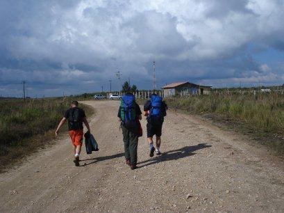 Guigo, Paulo e Pipo no caminho de volta